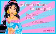 Jazmin - Princesas de Disney - Tarjeta de cumpleaños para imprimir