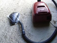 Vacuum set-up - Using a vacuum cleaner to make carbon fiber motorcycle parts.
