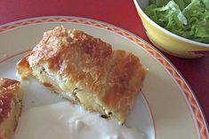 Blätterteigstrudel mit Kasnudel-Fülle - Rezept Spanakopita, Ethnic Recipes, Food, Mint, Food Portions, Cooking, Food Food, Essen, Meals