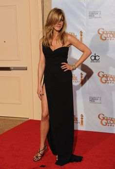 Jennifer Aniston and that thigh-high slit Valentino Couture gown, Golden Globes 2010