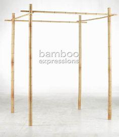 Bamboo Wedding Arbor @ Bambooexpressions.com   Easy-up Chuppah idea?