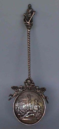 Augsburg antique silver spoon .
