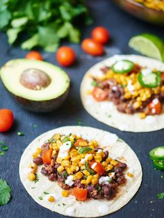 Easy Black Bean and Roasted Corn Tacos