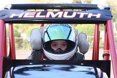 Molly Helmuth waiting to start a race at Stockton 99 Speedway.