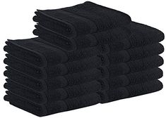 Cotton Salon Towels - Gym Towel - Hand Towel - (24-Pack, Black) - 16 inches x 27 inches - Not Bleach Proof - Ringspun-Cotton, Maximum Softness and Absorbency, Easy Care – by Utopia Towels. For product & price info go to:  https://beautyworld.today/products/cotton-salon-towels-gym-towel-hand-towel-24-pack-black-16-inches-x-27-inches-not-bleach-proof-ringspun-cotton-maximum-softness-and-absorbency-easy-care-by-utopia-towels/