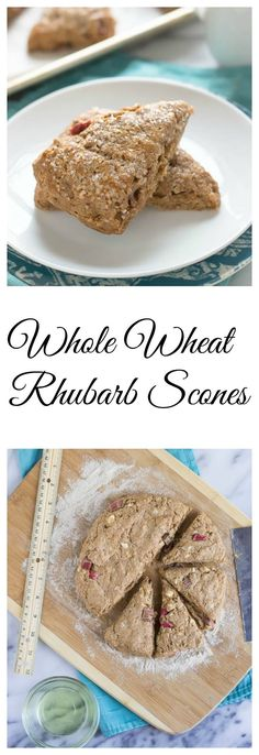 Whole Wheat Rhubarb Scones from Well Plated by Erin