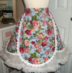 On Sale/retro apron/1950 apron/half by mimisneedle on Etsy