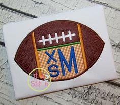 I2S Football Monogram Applique design