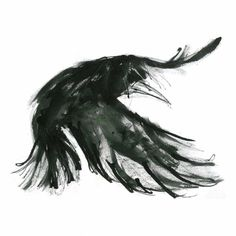 Crow Flying Greetings Card by suzysharpe on Etsy, £2.50