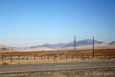 A estrada entre Santiago e San Pedro de Atacama