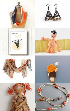 ☆ August Gift Guide ☆ Ooh, my darling Tangerine ☆ by Maia D'Awallsky on Etsy--Pinned with TreasuryPin.com
