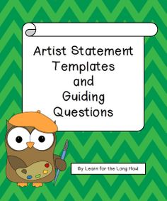 Artist Statement Template  Marketing    Statement
