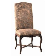French Tapestry Upholstery Fabric | ... French Dining Side Chair By Guy  Chaddock The