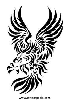 Tribal Eagle Tattoo Designs For Men 2