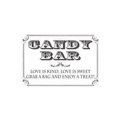 Candy Bar Sign - 5x7 DIGITAL FILE, horizontal, customizable colors, for Wedding / Sweet 16 / Birthday Party   Font colors only are fully customizable.  ***To purchase, include a message with the following: (1) Font Color for Candy Bar (shown in sample as charcoal gray) (2) Font Color for Love is Sweet... Line (shown in sample as charcoal gray)  **This listing is for a DIGITAL FILE, not a physical sign***  This can be used for other events too! Color Options - Feel free to choose a s...