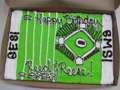 Boy Birthday Ideas! Cookie Cake! Boy Birthday, Birthday Ideas, Cookie Cakes, Decorated Cookies, Cookie Decorating, Decorated Sugar Cookies