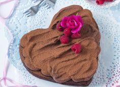 Parížske čokoládové srdce s brusnicami