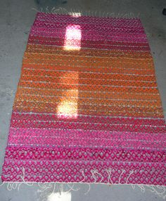 Recycled Fabric, Woven Rug, Scandinavian Style, Handicraft, Pattern Design, Recycling, Weaving, Rag Rugs, Porch