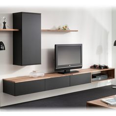 Interstar wall furniture - New Sites Home Living Room, Living Room Decor, Living Room Tv Unit Designs, Muebles Living, Tv Wall Decor, Tv Furniture, Hanging Furniture, Tv Wall Design, Home Deco