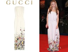 Brit Marling's Gucci Floral Print Georgette Gown