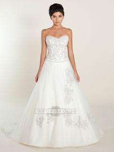 A-line Sweetheart Wedding Dress with Beaded Bodice