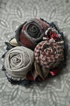 Gallery.ru / Фото #89 - Текстильные украшения 2015-2016. Мои работы. - Shellen