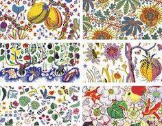 These fabrics have been designed by Josef Frank for Svenskt Tenn.