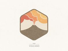 Beautiful logo design and colours - The Volcano by Yoga Perdana.