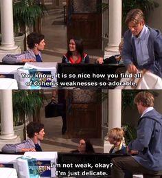 """I'm not weak, okay? Just delicate."" -Seth, Summer & Luke. #TheOC Season 1, #16: The Links."