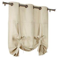 Alcott Hill Hopedale Grommet Tie-Up Thermal Single Curtain Panel Color: Khaki Tie Up Curtains, Short Curtains, Sheer Curtain Panels, Cotton Curtains, Velvet Curtains, Lined Curtains, Blackout Curtains, Window Curtains, Drapery