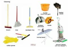 Cleaning tools vocabulary