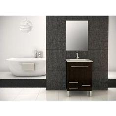 Meuble de salle de bain LONDRES meuble wengé 60 cm
