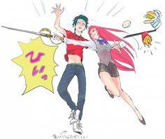 ) Devil is a part timer. Devil Part Timer, Hataraku Maou Sama, Anime D, Fandom Crossover, Manga Cute, Blue Exorcist, Strong Girls, Awesome Anime, Anime Ships