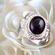 1 Pcs Natural Amethyst Cabochon Gemstone Oval Shape 925 Silver Plated Cuff Ring  #Raagarw #Ring