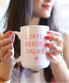 Ummm yea. When I'm drinking coffee before talkie, I'm not accessorize and all made up.