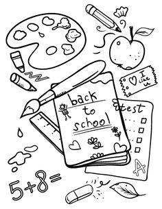 printable back to school coloring page free pdf download at httpcoloringcafe - September Coloring Pages