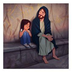 God Loves Me, Jesus Loves, Jesus Cartoon, Jesus Drawings, Jesus Artwork, Pictures Of Jesus Christ, Jesus Wallpaper, Jesus Painting, Prophetic Art