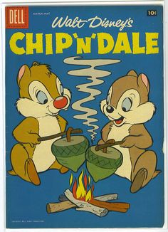 Chip n dale disney Vintage Comic Book cover