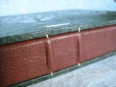 Coptic bound journal with leather spine by paperiaarre, via Flickr