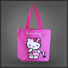 Sac à main shopping Hello Kitty avec son chien. Un très chouette sac fourre tout à l'effigie du petit chat japonais de Sanrio.