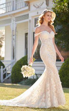 1f5ecbba9e383 Courtesy of Martina Liana wedding dresses Fall Wedding Dresses, Wedding  Gowns, Lace Mermaid Wedding