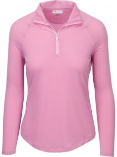 If you're in the market for some new outfits, consider our women's apparel! Shop this comfortable and stylish ESSENTIALS (Navy & Pink Ice) SALE Greg Norman Ladies L/S Lurex Mock Golf Shirts from Lori's Golf Shoppe. Golf Attire, Golf Outfit, Lady L, Perfect Golf, Essentials, Golf Wear, Ladies Golf, Women Golf, Womens Golf Shoes