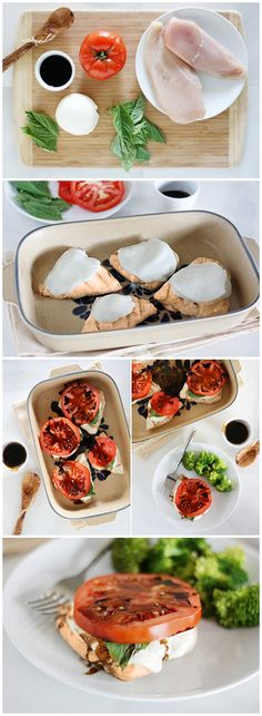 Grilled Caprese Chicken add bacon and salad Caprese Chicken, Cooking Recipes, Healthy Recipes, Best Chicken Recipes, Meal Prep For The Week, Creative Food, Food For Thought, Love Food, Yummy Food