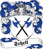 Schell  family crest / coat of arms