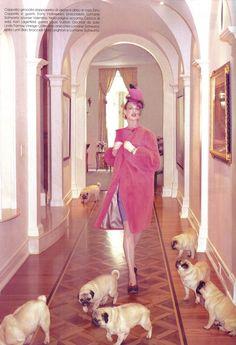 Linda Evangelista in 'The Duchess' by Steven Meisel for Vogue Italia, June 2008.