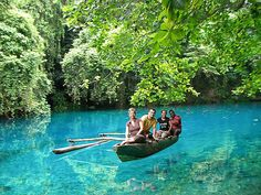 Espiritu Santo's Blue Hole  a crystal clear sparkling cerulean blue swimming hole at the end of a beautiful river journey, as well as Turtle Island where green turtles frequently breed and nest.  enquiries@surething.com.au