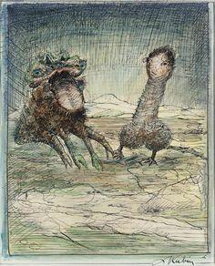 Alfred Kubin, 'Demonios' / Austria, arte, genitales