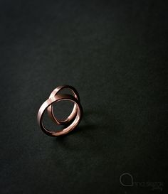 Wedding rings. Red gold