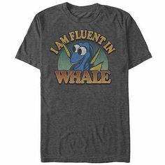 Disney Pixar Finding Dory Fluent Whale Gray T-Shirt