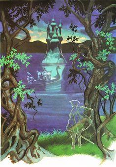 'The Twelve Dancing Princesses by Ron Embleton' This was my favorite fairy tale when I was little. Princess Illustration, Character Illustration, Illustration Art, Grimm, 12 Dancing Princesses, Art Assignments, Vintage Fairies, Love Fairy, Le Palais